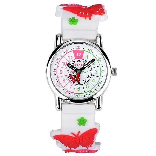 Reloj Ninas Niños KZKR Reloj para nina reloj para nino reloj deportivo reloj deportivo para nina Relojes analógico tiempo maestro 3D silicona correa reloj ...