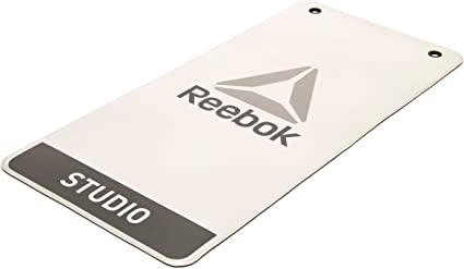 Amazon Com Reebok Hanging Studio Mat Light Grey Black Exercise Fitness Or Yoga 39 X 20 Sports Outdoors