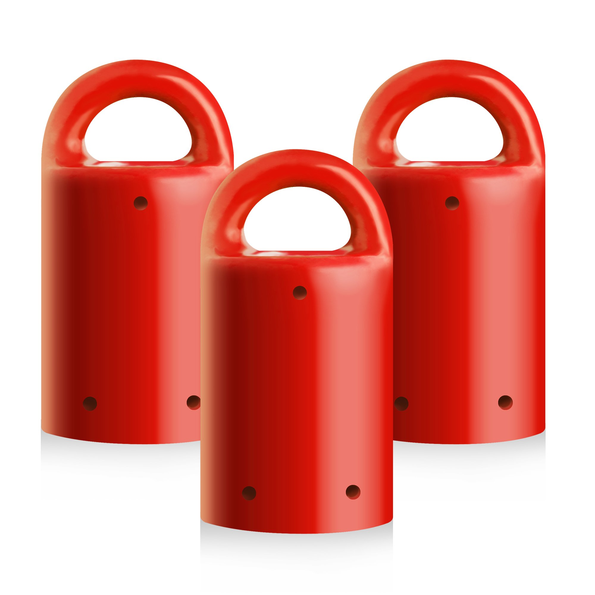 MagnetPal 3 pack Heavy-Duty Neodymium Anti-Rust Magnet, Best for Magnetic Stud Finder / Key Organizer / Indoor and Outdoor Multi Uses, Red with Key Ring (SP-MPM3RD)
