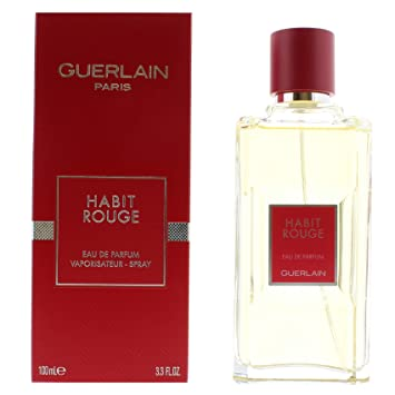 Amazoncom Guerlain Habit Rouge Eau De Parfum Spray For Men 33