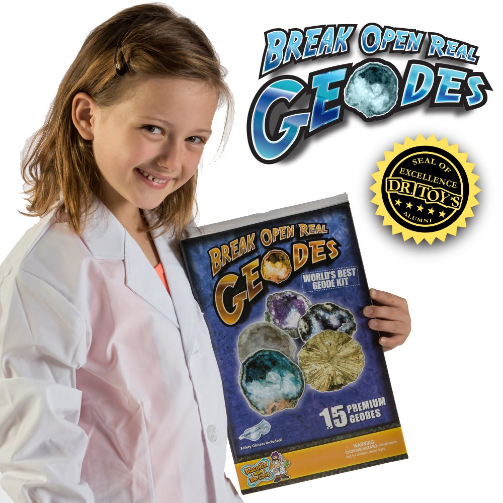 Worlds Best Geode Kit  Crack Open 15 Rocks and Find Crystals! by Discover with Dr. Cool (Image #5)