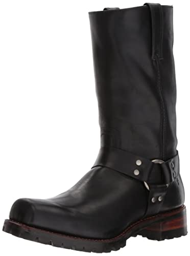 FRYE Men's Addison Lug 12r Harness Boot, Black, ...