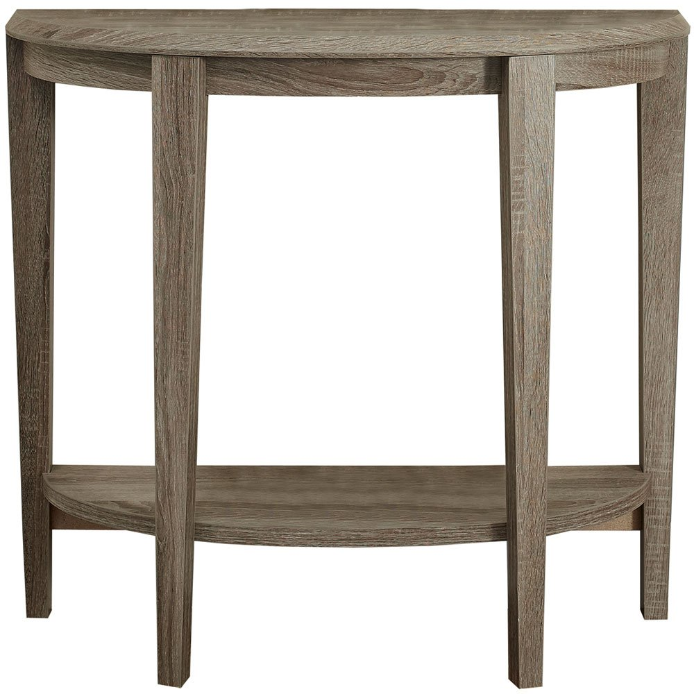 Monarch Specialties Reclaimed-Look Half Moon Hall Console Accent Table