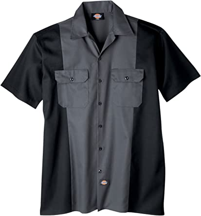 Dickies Camiseta de manga corta camisa de trabajo de dos tonos