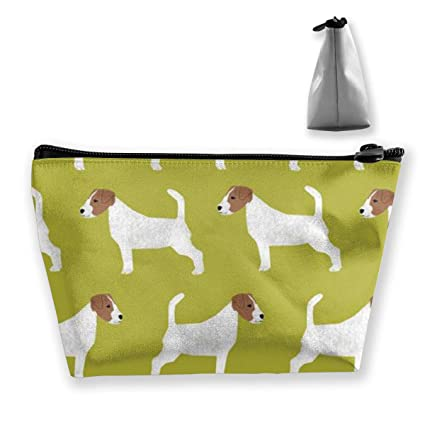 dd7d474caf4b Amazon.com: BIKAM Jack Russell Terrier Makeup Cosmetic Tote Bag ...