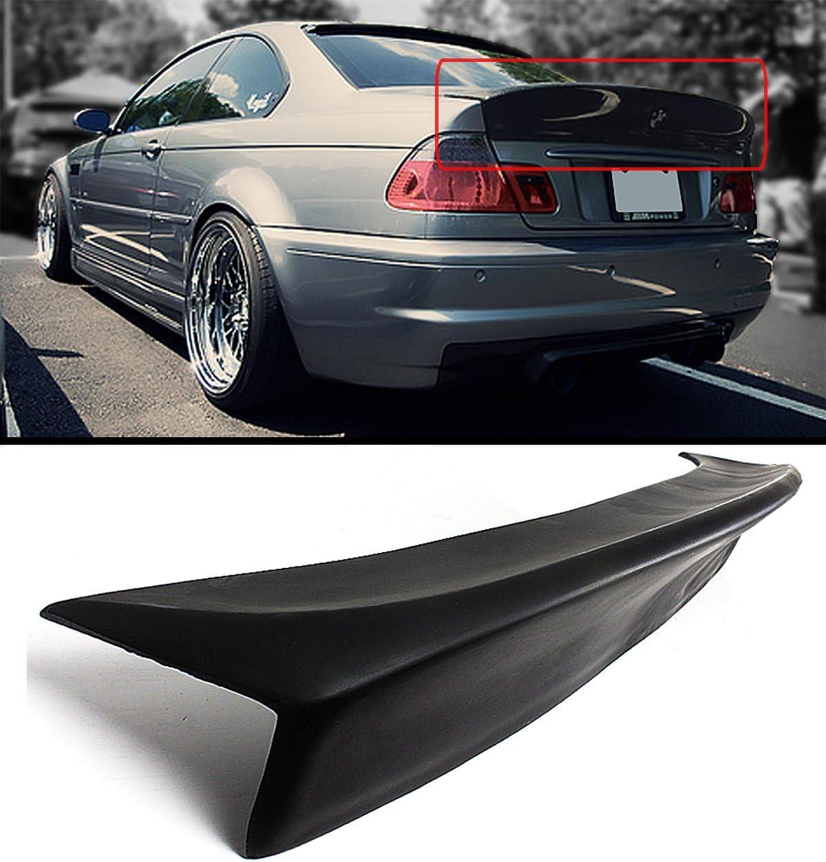 BMW E46 M3 Model added CSL Style Painted Matte Black Front Lip Spoiler