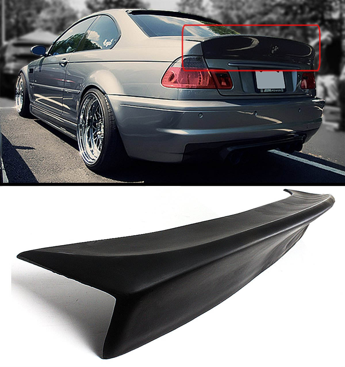 Cuztom Tuning for 2001-2006 BMW E46 2DR Coupe M3 CSL Style Duckbill HIGHKICK Trunk Spoiler Wing