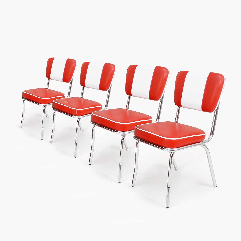 4er Set Esszimmerstühle American Diner Stühle 50er Jahre Retro Möbel Stuhl