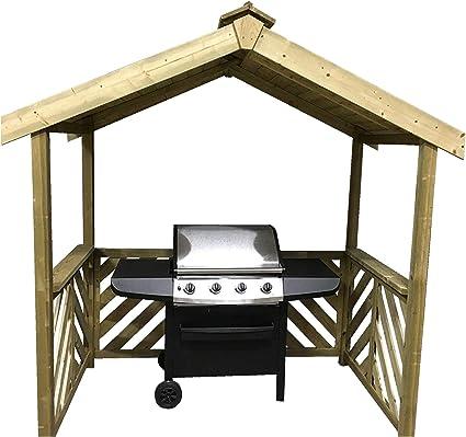 Anchor Fast Exmouth - Refugio de madera para barbacoa -: Amazon.es ...