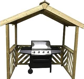 Anchor Fast Exmouth - Refugio de madera para barbacoa -: Amazon.es: Jardín