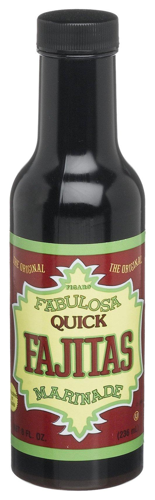 Figaro Fabulosa Fajita Marinade, 8-Ounce Platic Bottles (Pack of 12)