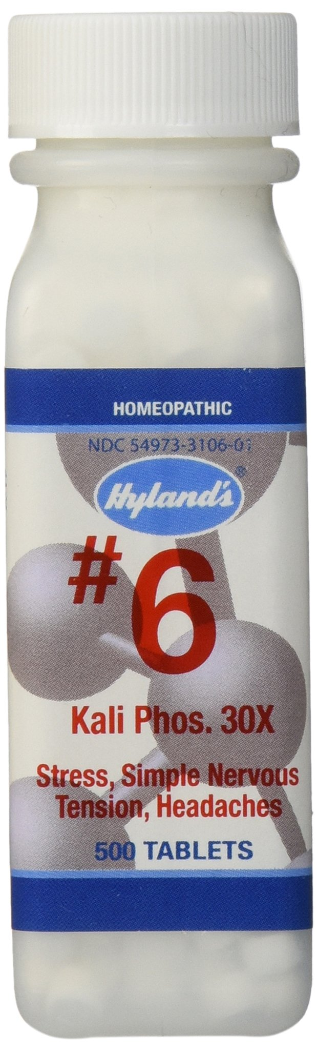 Hylands Cell Salts #6 Kali Phosphoricum 30X Tablets, Natural Relief of Stress, Simple