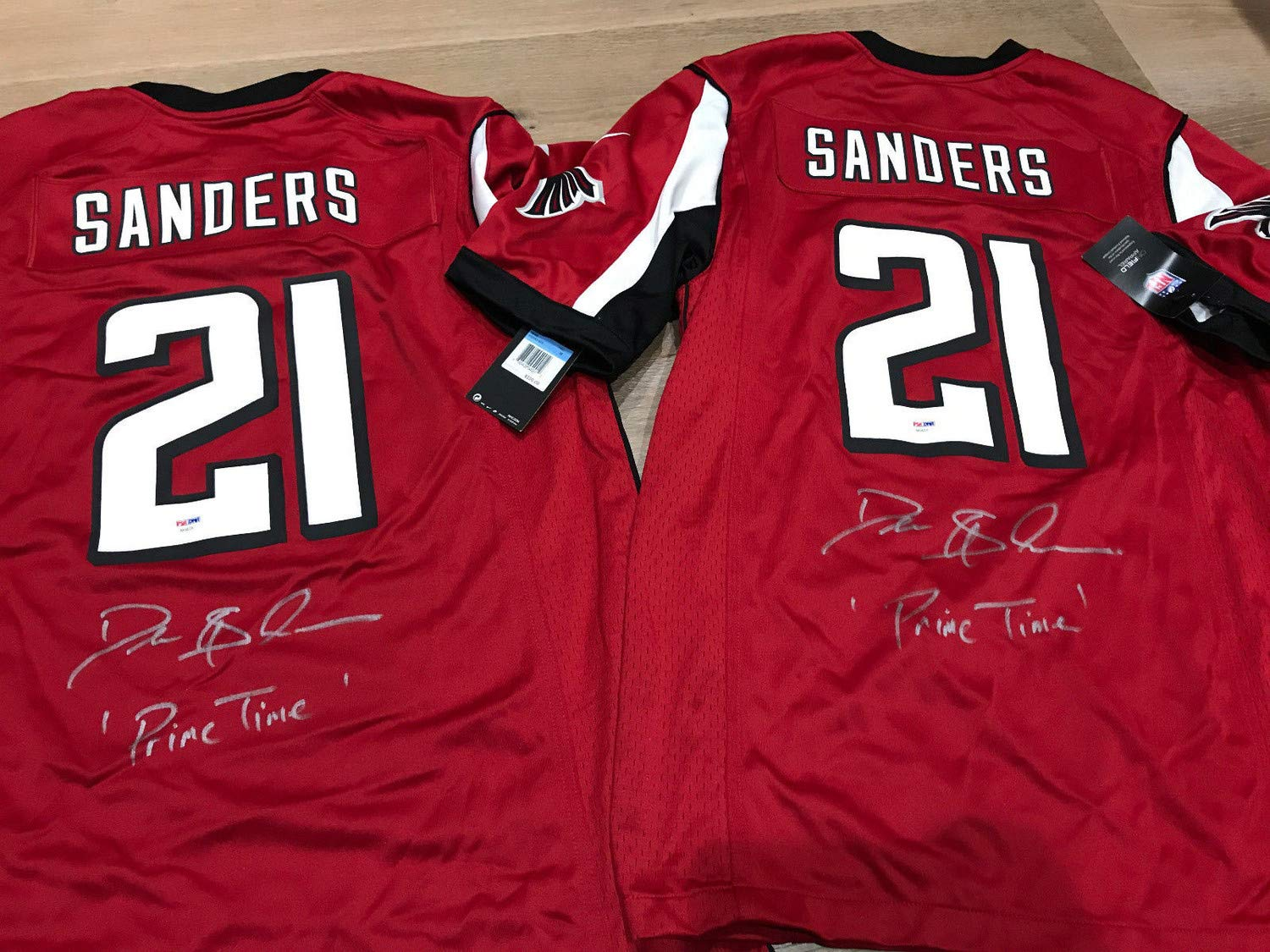 buy popular 871c0 7f395 Deion Sanders Auto Autographed Signed Nike On Field Jersey ...