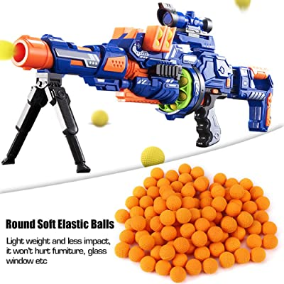 GLOGLOW 100pcs Rounds Refill Bullet Balls Soft Elastic Balls Compatible Replace Bullet for Rival Zeus Apollo Toy Children Kids Toy(Orange): Toys & Games