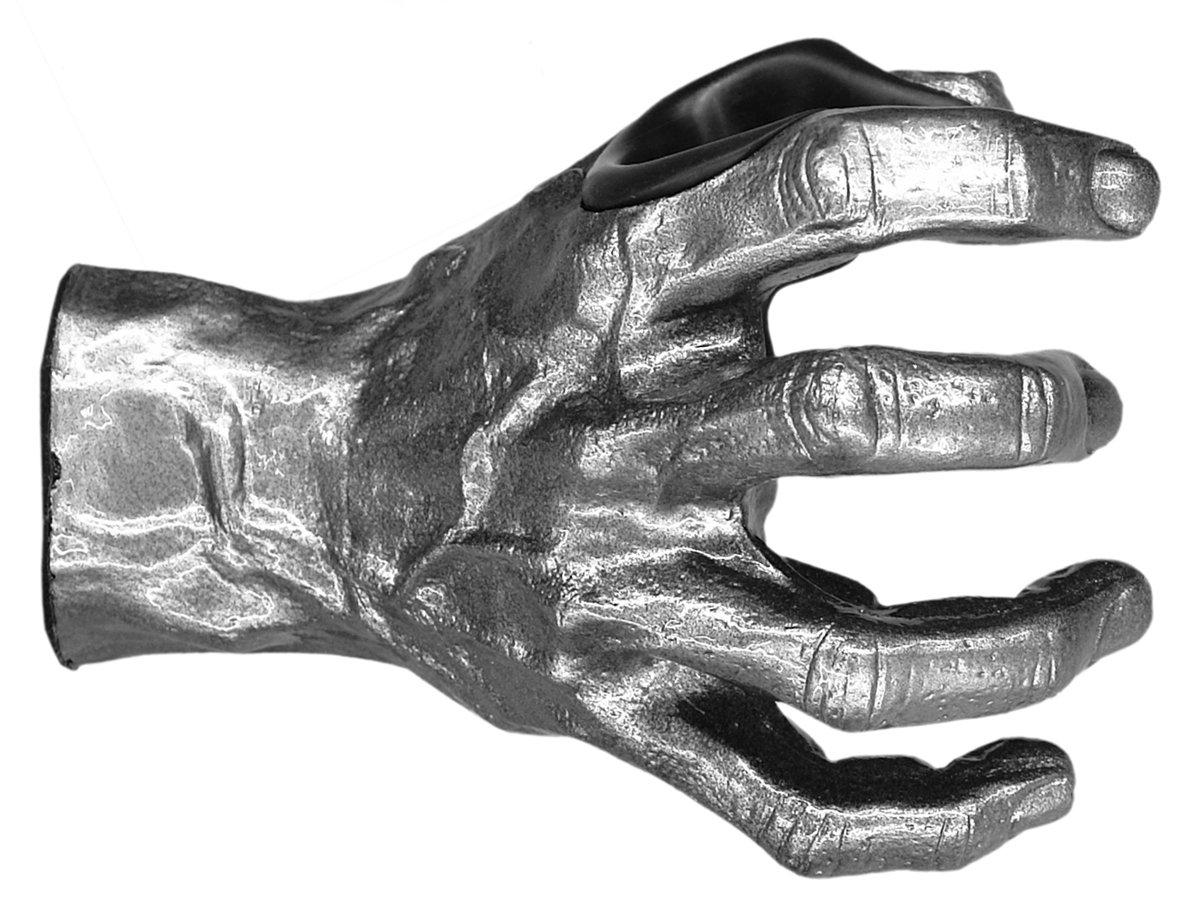 GuitarGrip RHGH-101R Male Standard Grip, Right-Handed, Silver Metallic