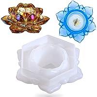 IHUIXINHE Lotusbloem Kaarsenhouders Hars Schimmel, Kandelaar Epoxy Gieten Siliconen Mal voor Het Maken van Juwelendoos…