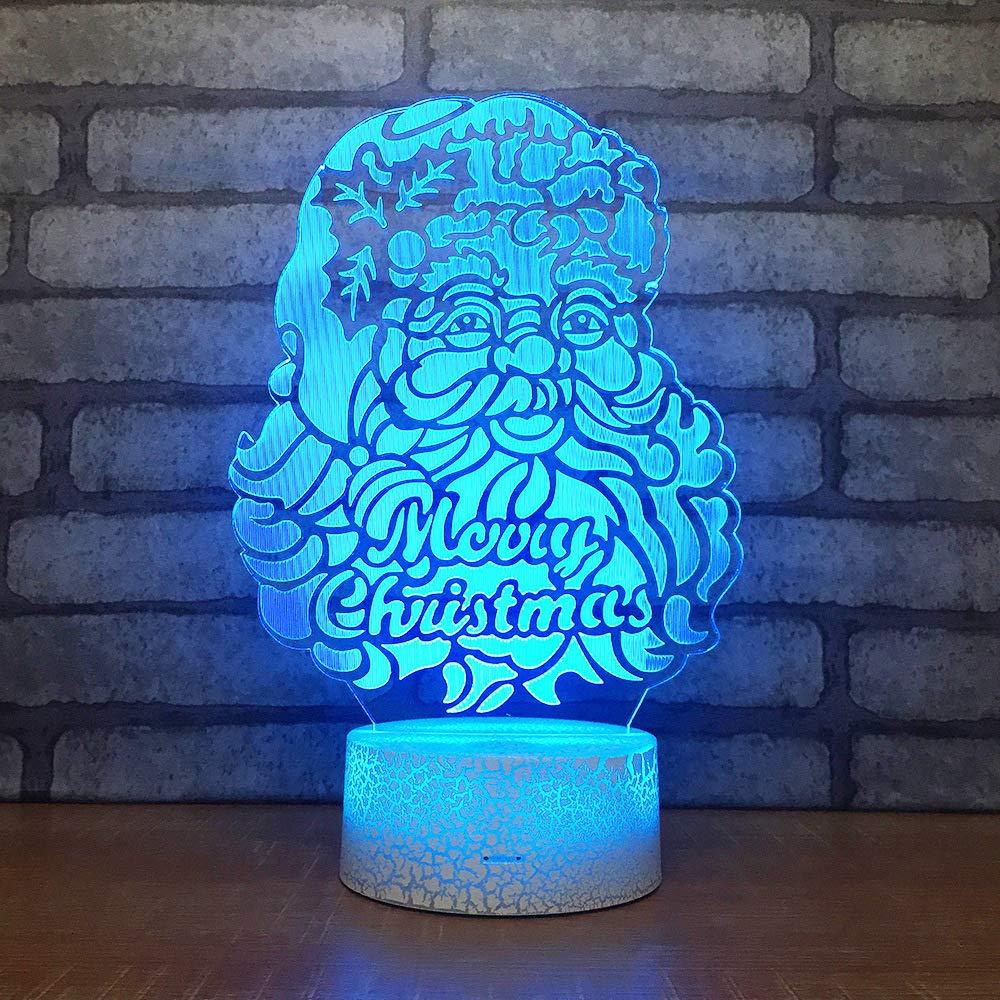 BFMBCHDJ Regalo creativo de santa lámpara de escritorio led ...