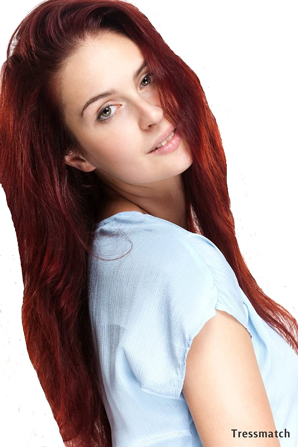 Amazon tressmatch 20 22 clip in remy human hair burgundy amazon tressmatch 20 22 clip in remy human hair burgundy extensions dark auburnvibrant red 33 9 piecespcs thick to ends full head set set pmusecretfo Choice Image