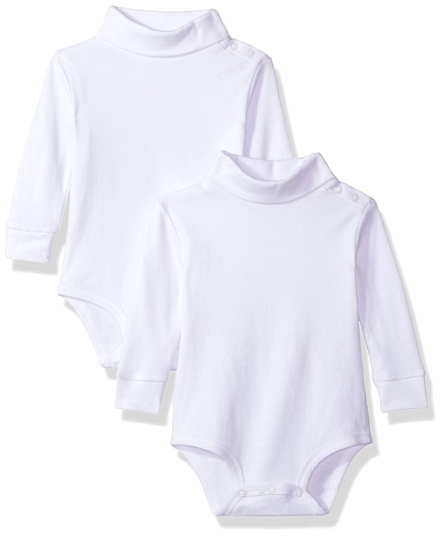 Spasilk Baby Boys' 2 Pack Turtleneck Long Sleeve Bodysuit TN 2P0502-24
