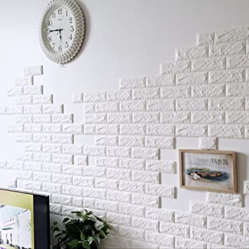 Buy Rrimin New PE Foam Wall Stickers 3D Wallpaper DIY Wall Decor
