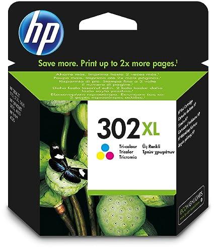 1x Original HP Cartucho de inyección de tinta HP F6U67AE HP 302XL HP 302 XL para HP Deskjet 3630 - Color - Rendimiento: aprox. 330 páginas / 5 %
