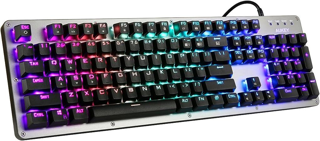 AUKEY RGB Teclado mecánico para Juegos con [Interruptores ...