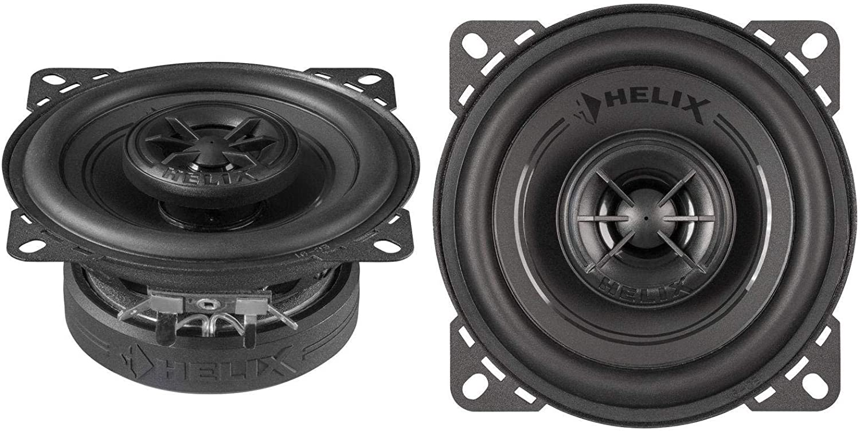 Helix F 4x 10cm 2 Wege Koax Auto Lautsprecher Boxen 120 Watt Maximalleistung Schwarz Navigation