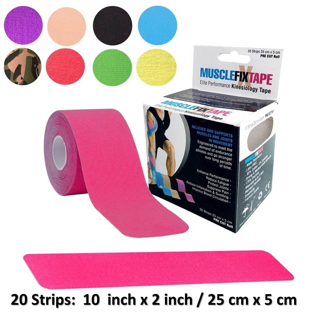 Pink Kinesology tape Roll | ktape ktapes kttape kttapes k-tape kt-tape kt-tapes | tonal dysfunction torticollis post-surgical scar management diastasis recti impingement syndrome myofascial mma ac rib