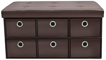 Superbe Sorbus Storage Ottoman Bench With Drawers U2013 Collapsible Folding Bench Chest  With Cover U2013 Perfect For