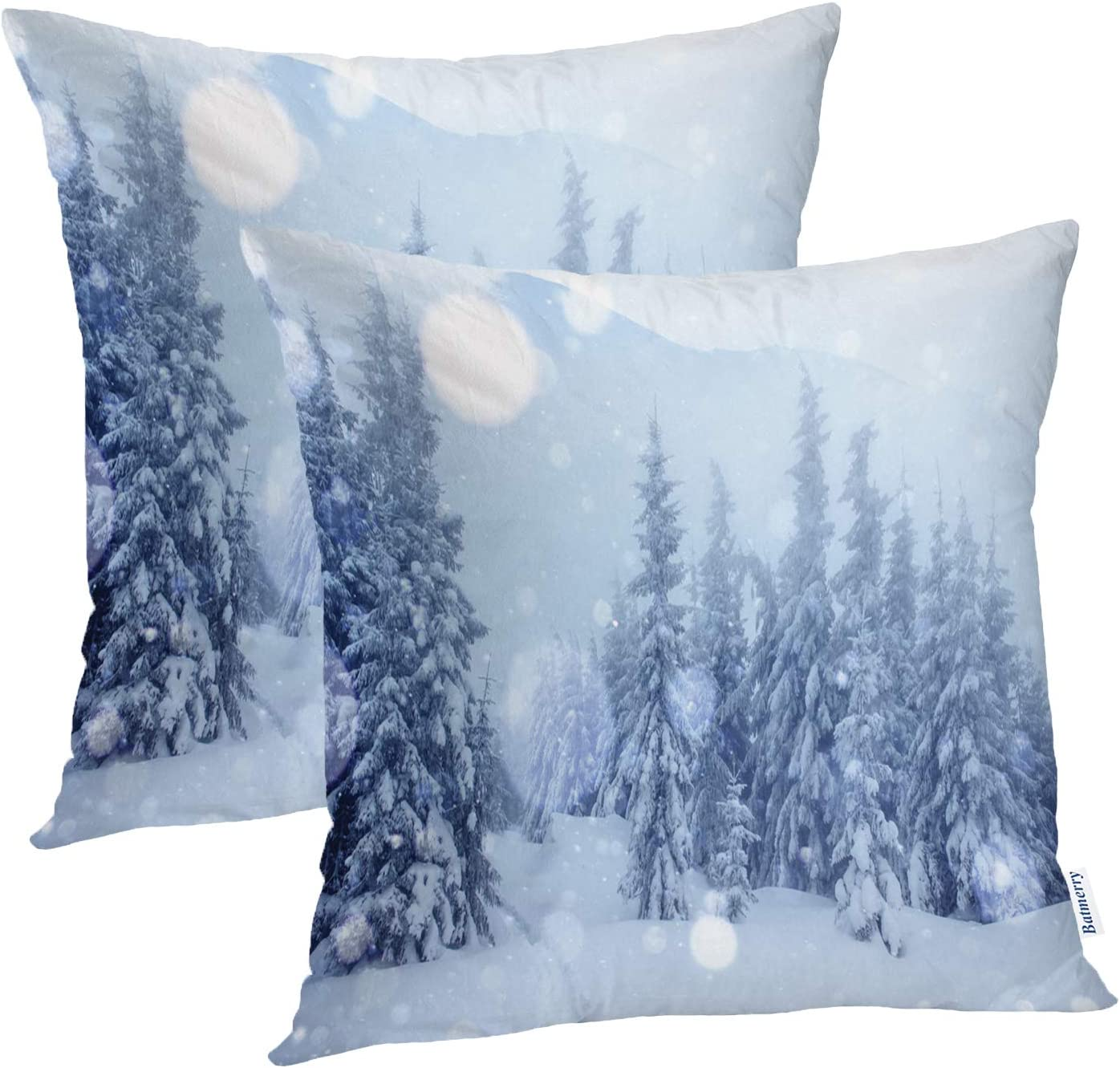 Batmerry Winter Pillow Covers 18x18