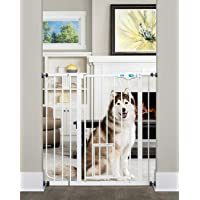 Carlson 0941PW Extra-Tall Walk-Thru Gate with Pet Door, White