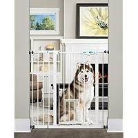 Carlson 0941PW Extra-Tall Walk-Thru Gate with Pet Door, White