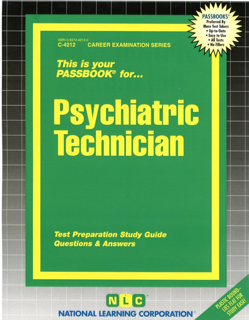 Psychiatric Technician(Passbooks): Jack Rudman: 9780837342122: Amazon.com:  Books