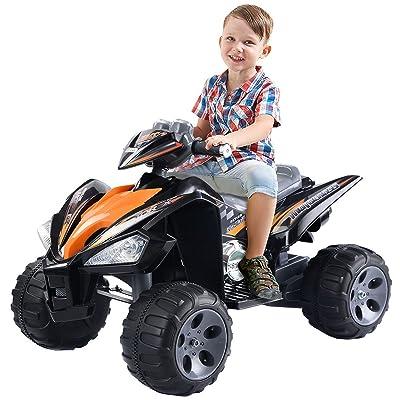 Giantex Kids Ride On ATV Quad 4 Wheeler Electric Toy Car 12V Battery Power Black