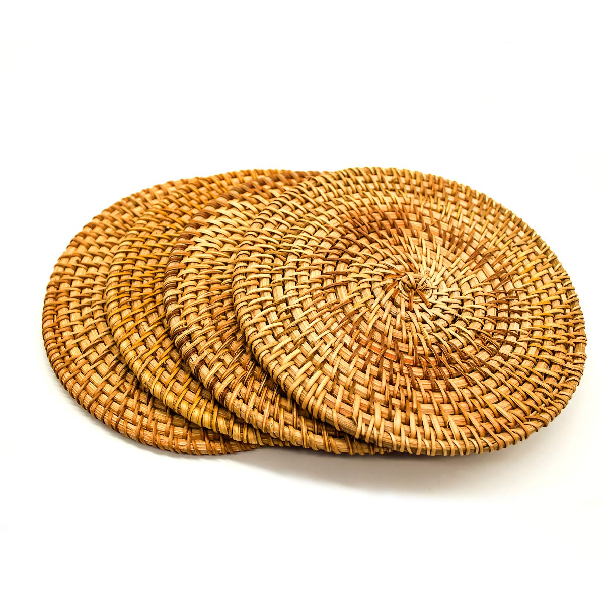 BeeHomee Trivets For Hot Dishes - Woven Rattan Trivets Hot Pads For Dinning Table,kitchen Heat Resistant Straw Dish Coasters Placemats Pot Holder (7.87 Inch) by BeeHomee