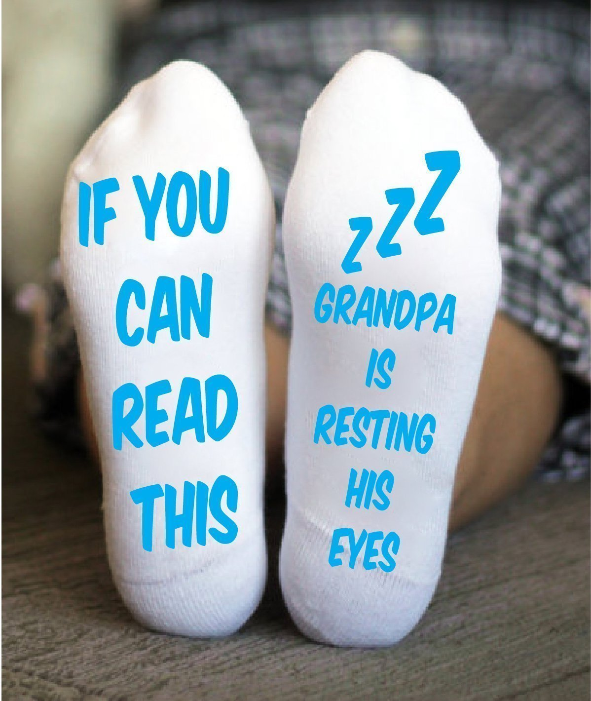 Grandpa Men's Socks Adult Crew Funny Sayings Gifts For Him