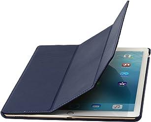 StilGut Couverture Case, Custodia in Vera Pelle per Il Apple iPad PRO 12.9, Blu Chiaro