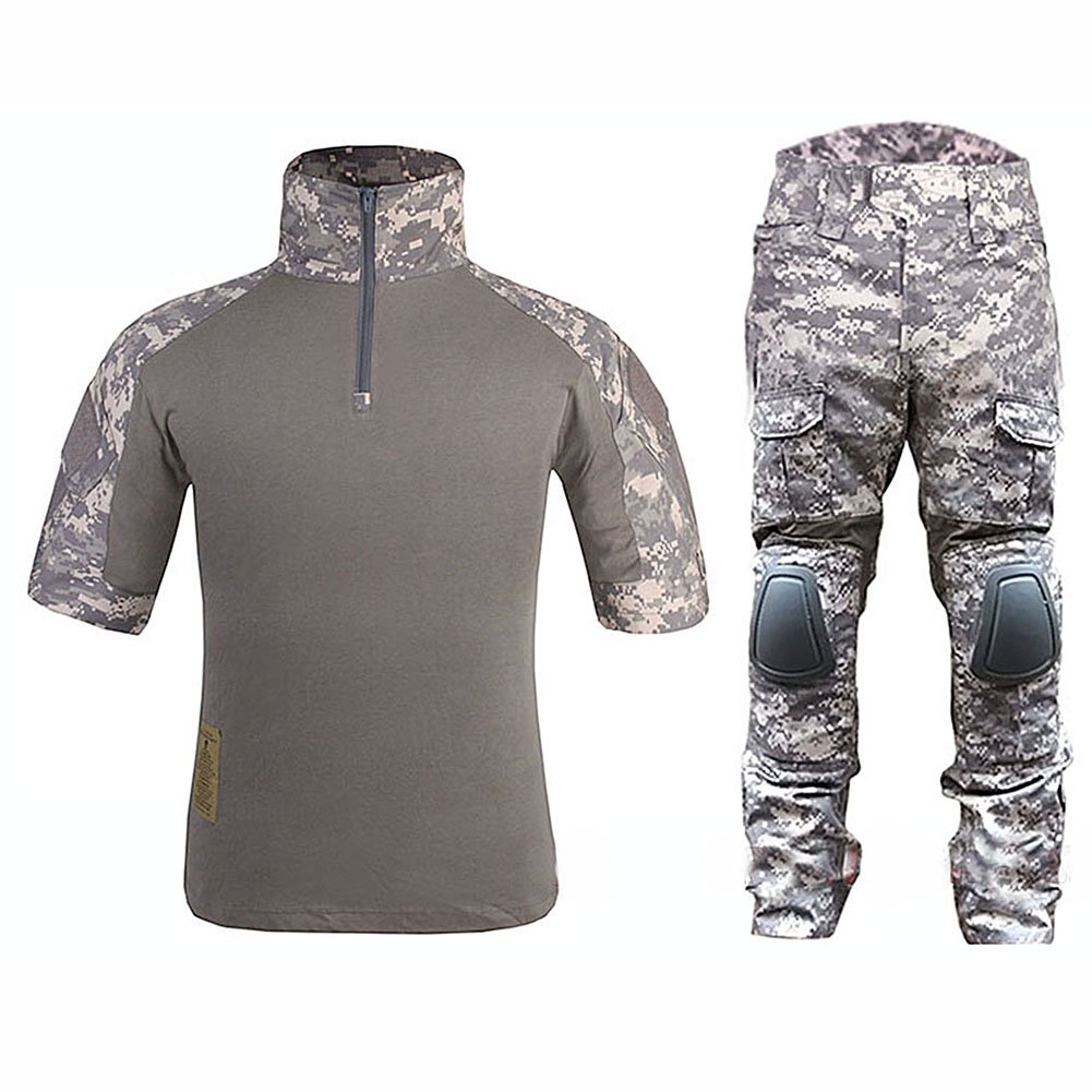 WorldShopping4U Tactical Military Custom Kampf Armee Shorts Uniform Hemd und Hose Anzug Set