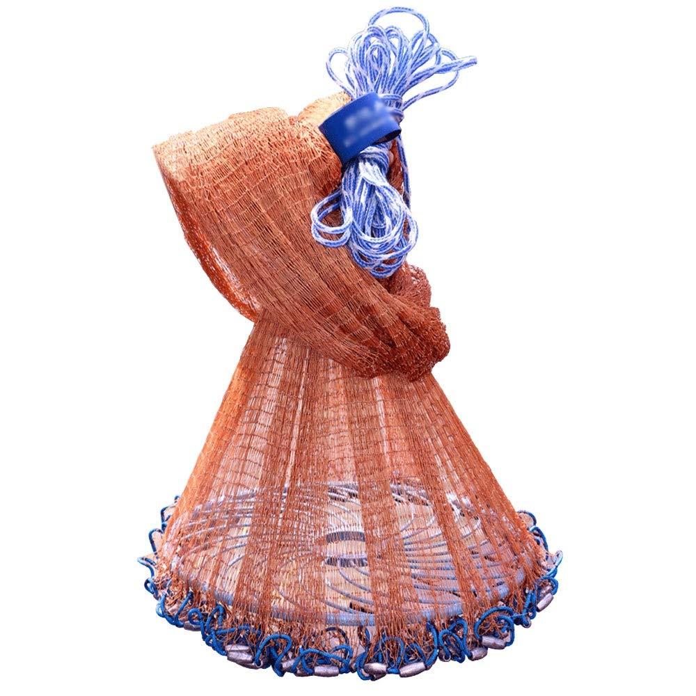 Jia He アウトドア用品 フリスビー漁網、1本の指タイヤライン手投げ海漁網フリスビー餌トラップ、から選択する6サイズ ## (Size : 3m)  3m