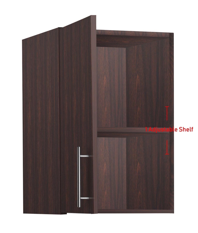 LifeSky LIF-CKC3002-2 Storage Cabinet, 16''x24'' Wall, Walnut by LifeSky (Image #7)