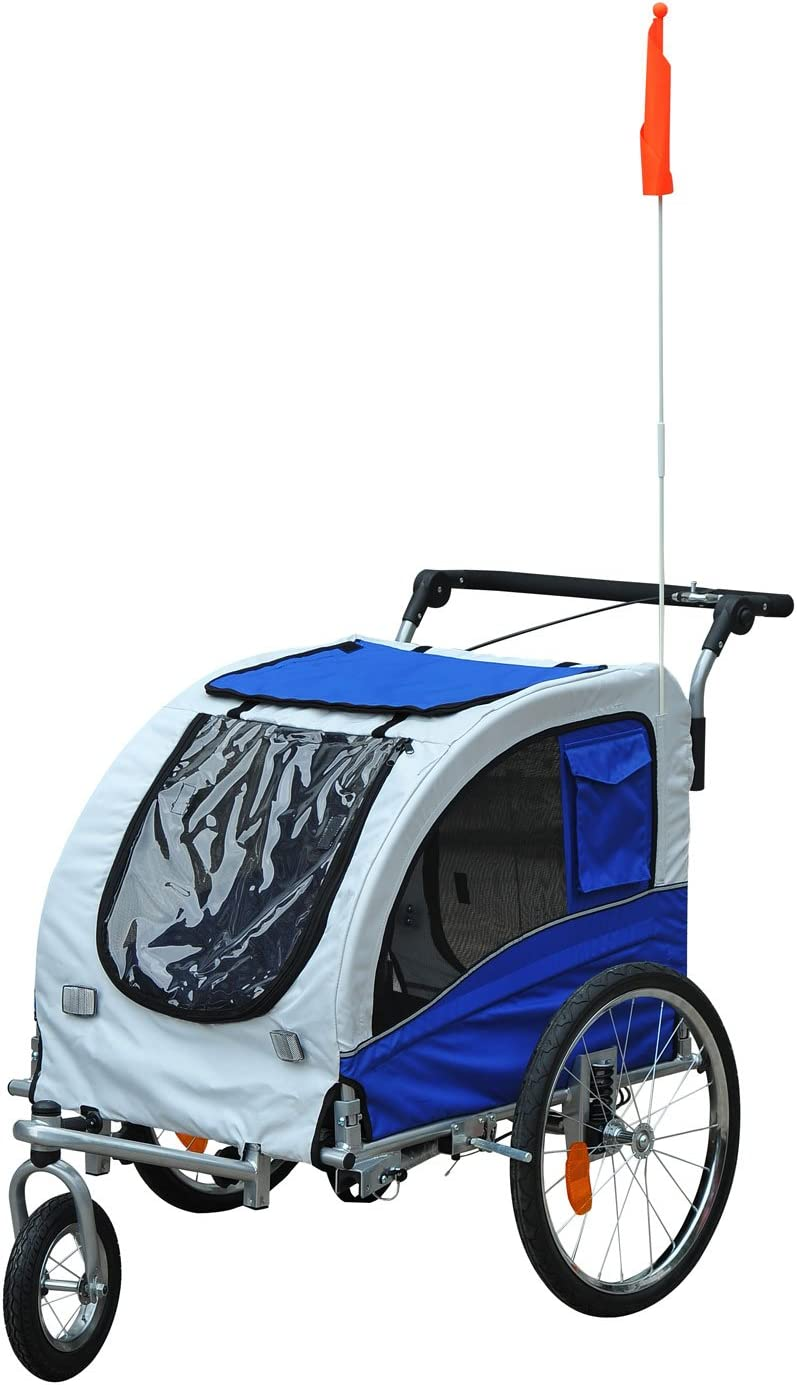 Aosom Elite II 2-in-1 Pet Dog Bike Trailer