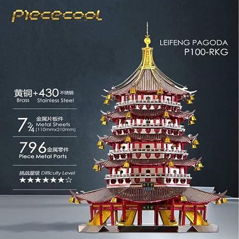 Leifeng Tower Metal ensamblado Modelo 3D Rompecabezas ...
