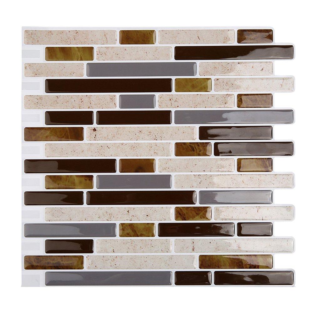 Magictiles 3D Decorative Peel and Stick Tile for Kitchen Backsplash, 10.65'' x 10'' (4 Tiles)