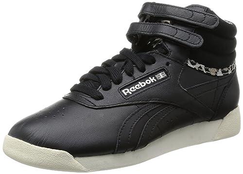 Freestyle Hi W Calzado negro Reebok cWjIJiJFF