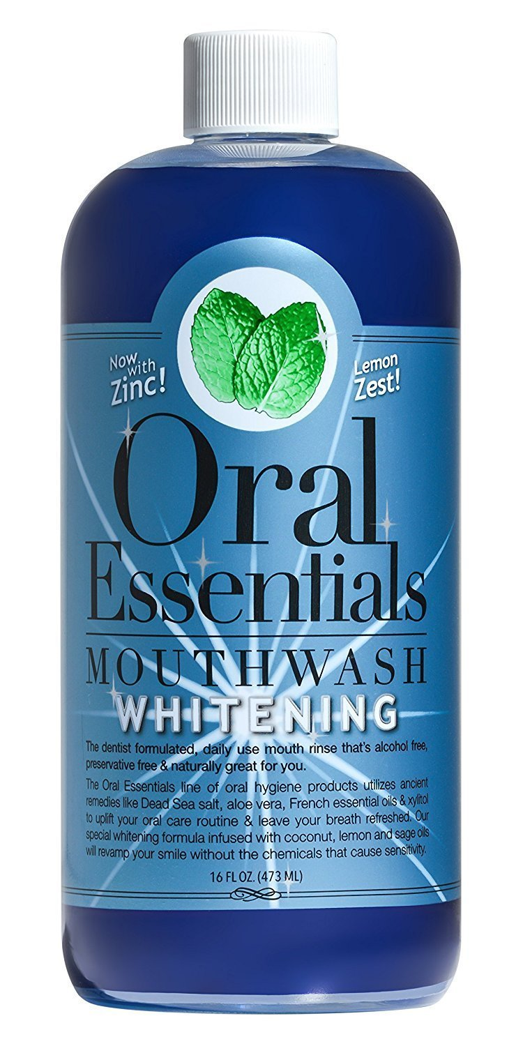 Oral Essentials Whitening Mouthwash Dentist Formulated Whitens without the Teeth Sensitivity