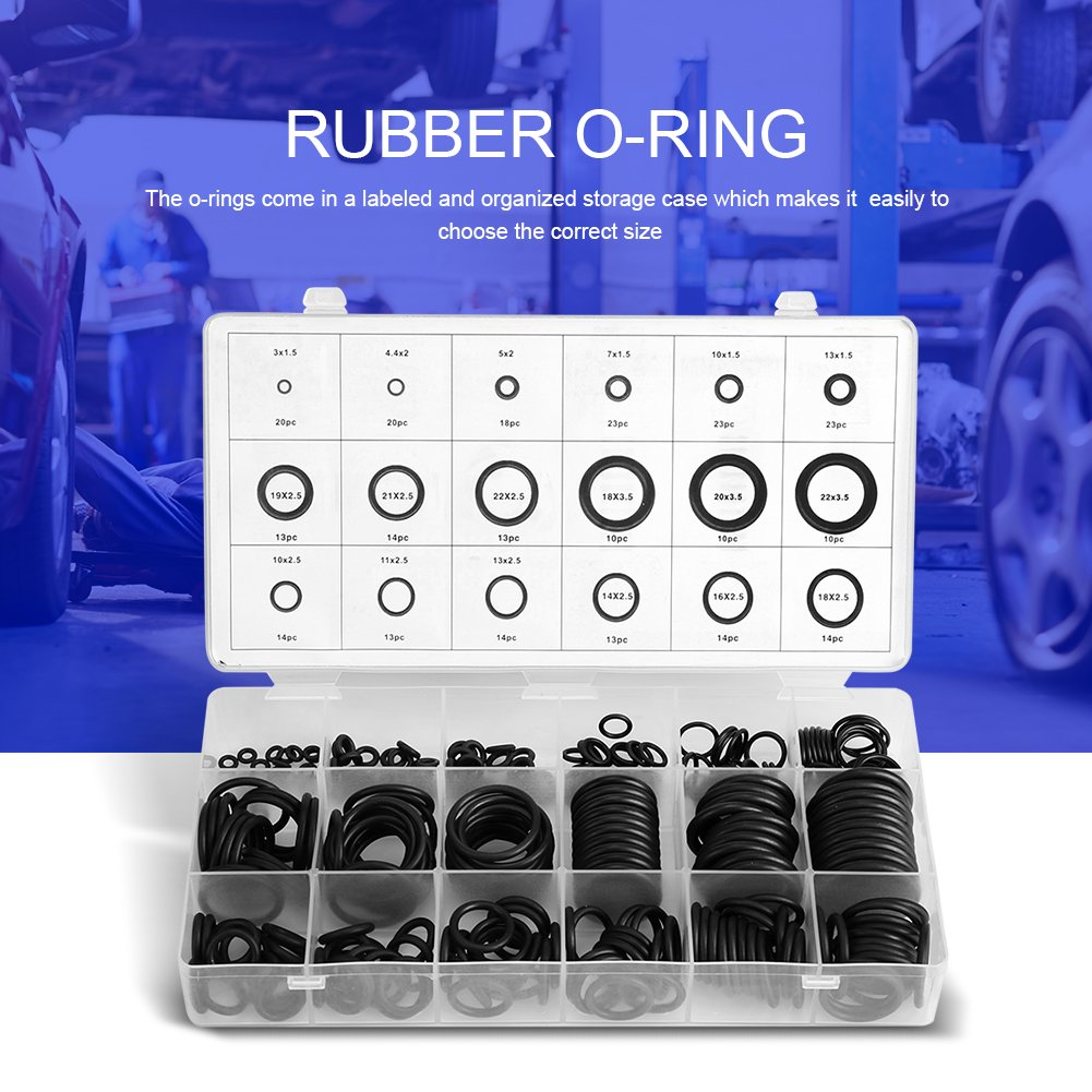 riparazione connessioni aria o gas ecc. idraulica riparazione generale 18 dimensioni 279 pezzi kit assortimento anello di tenuta in gomma O-ring per riparazione automobilistica