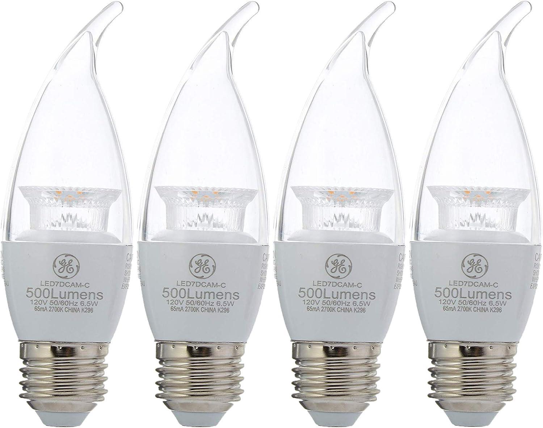 General Electric Bulb Clear Shape HD Refresh LED Light (60 Watt, Soft-White) (Medium Base) (4 Bulbs)