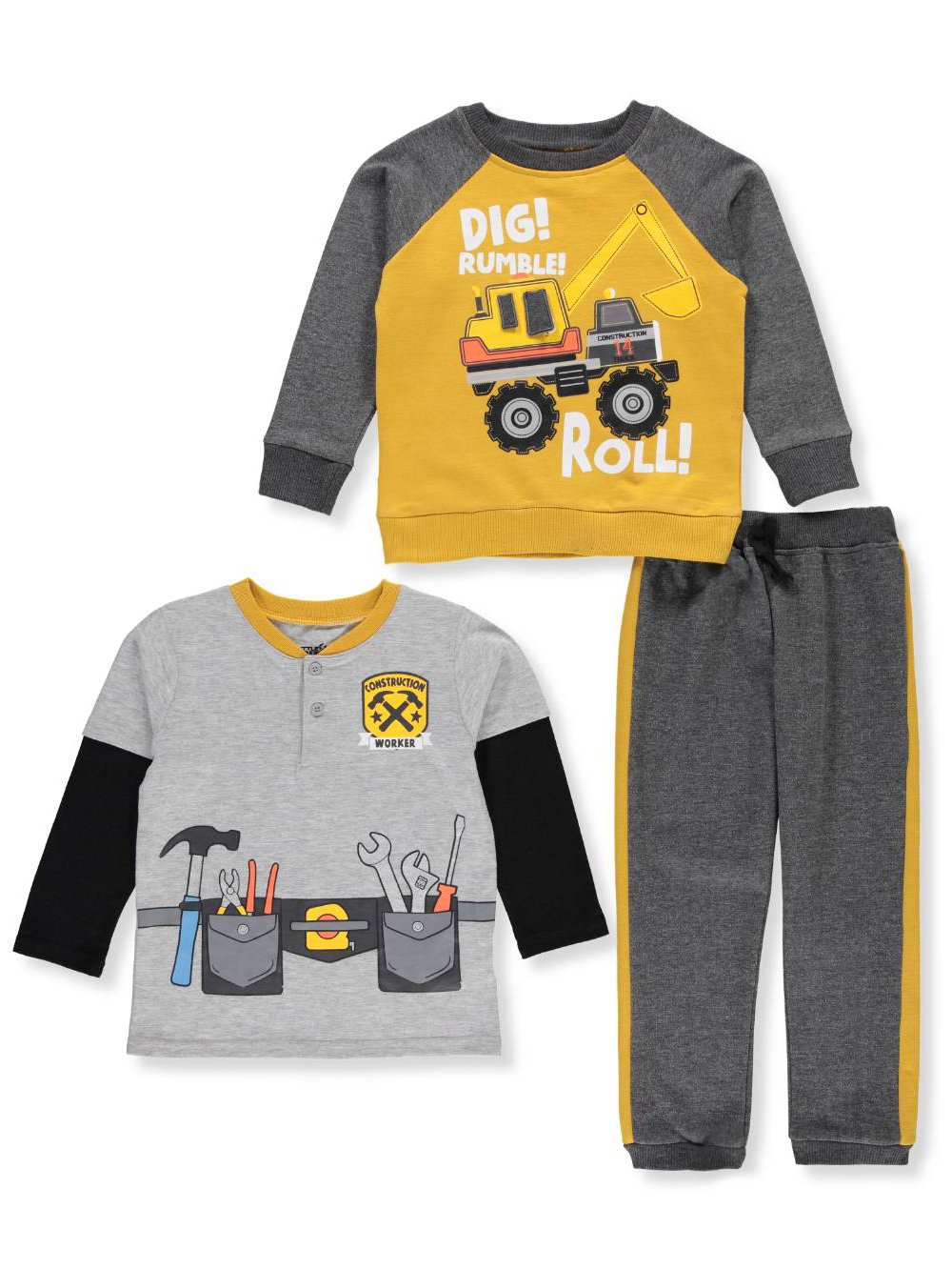 Little Rebels Boys' 3-Piece Pants Set Outfit