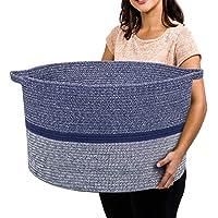 "RUNKA Extra Large Storage Basket 22"" x 14"", Soft Woven Large Basket with Handles,Extra Large Basket and Organizer for…"