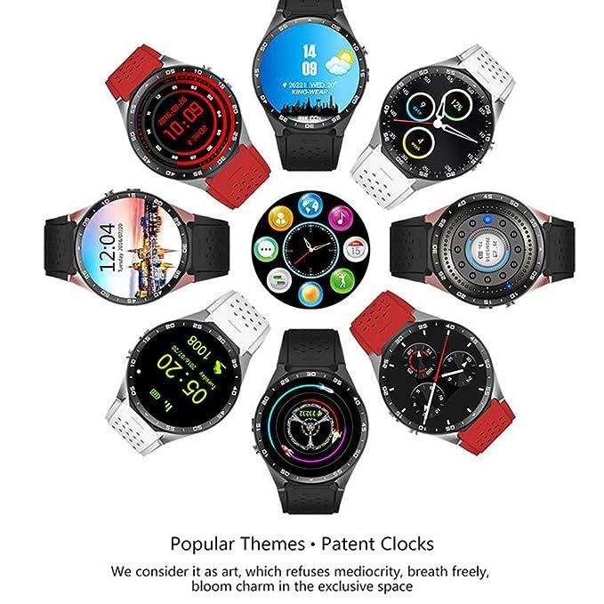 Reloj Inteligente Bluetooth KW88 con Pantalla táctil y Monitor de frecuencia cardíaca Reproducción de música Soporte Smart Health Watch Tarjeta SIM TF/SD ...